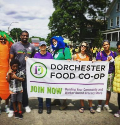Vegetables march in 2017 Dorchester Day Parade